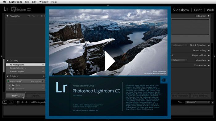 Lightroom cc catalog