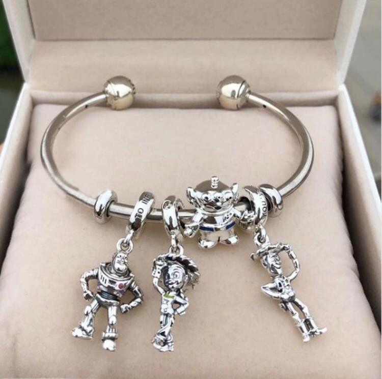 925 Sterling Silver Cute White Enamel Doll Charm Bead bracelet 2018 NEW