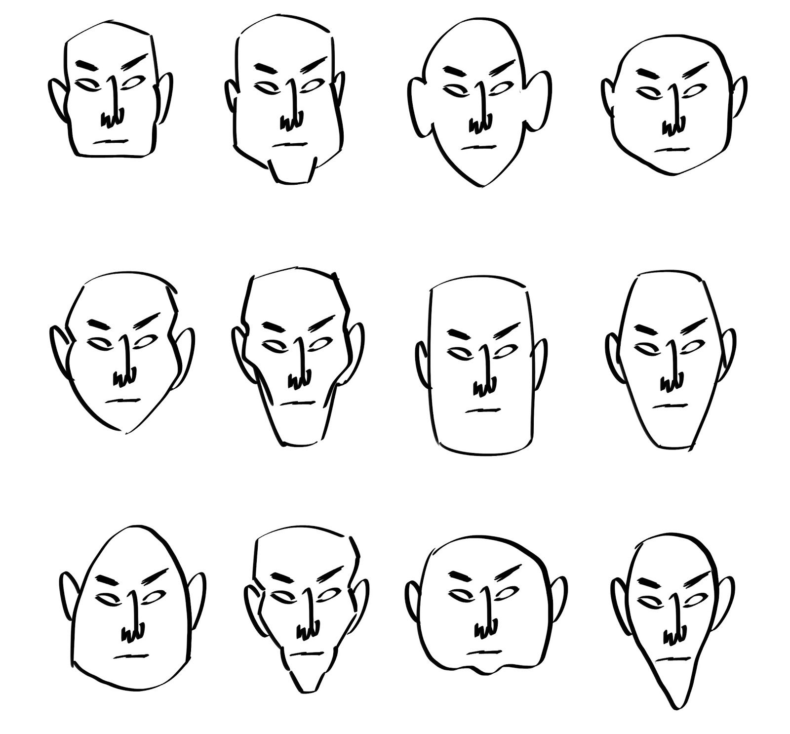 Drawing Cartoon Face Shapes Temple Of The Seven Golden