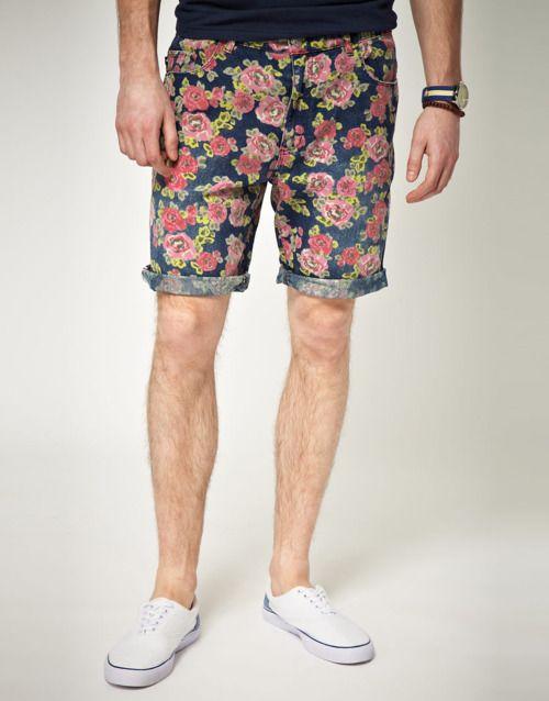 huge discount a91ca 9ac04 Shorts floreados para ellos