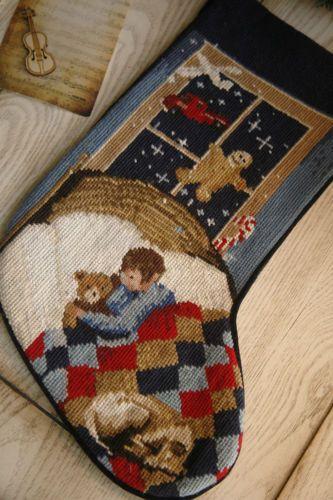 Beautiful-Christmas-Eve-Sleeping-Baby-Handmade-Woolen-Needlepoint