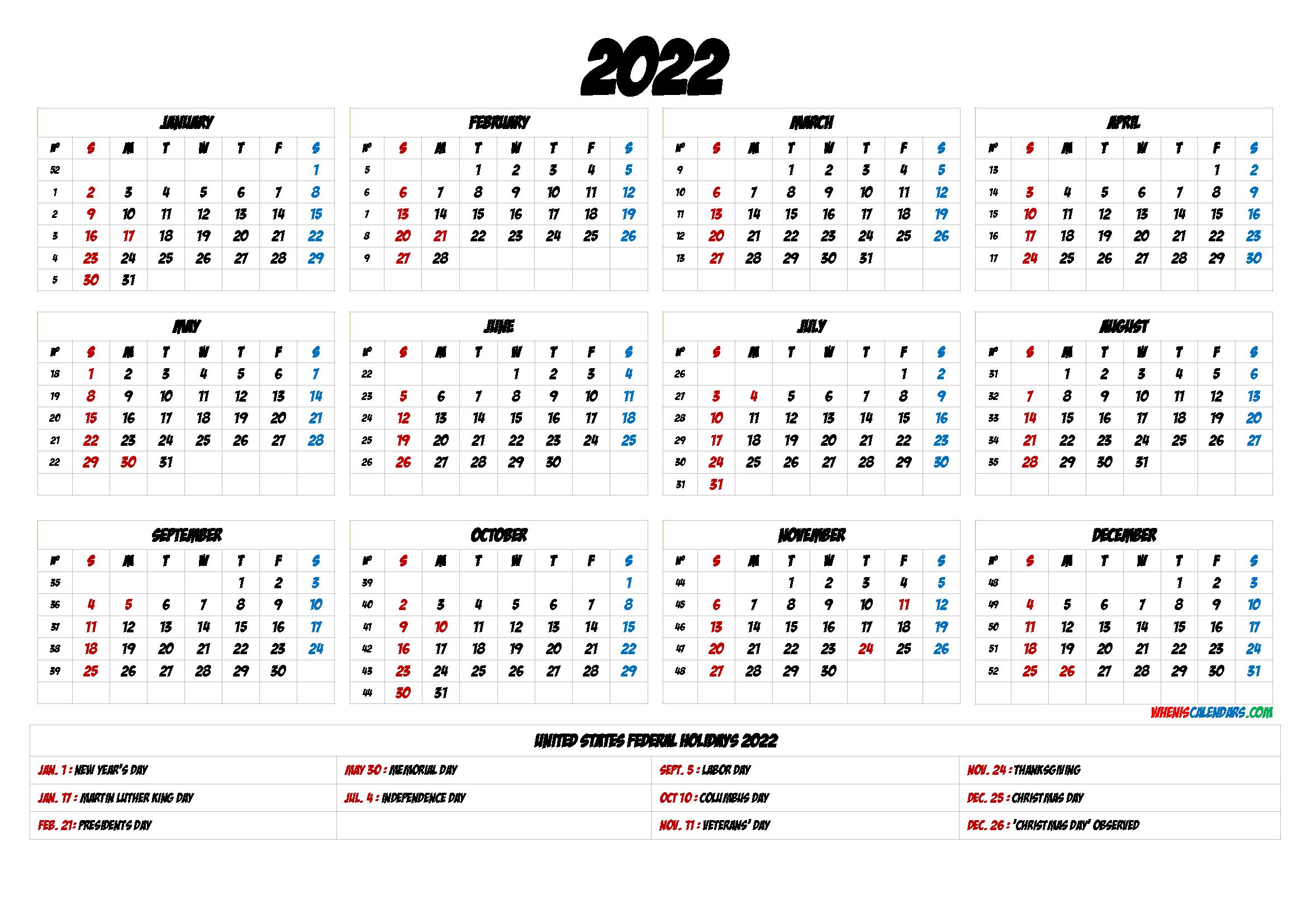 2022 Yearly Calendar Template Word.2022 Calendar Printable Pdf 6 Templates In 2021 Yearly Calendar Template Calendar Template Calendar Printables