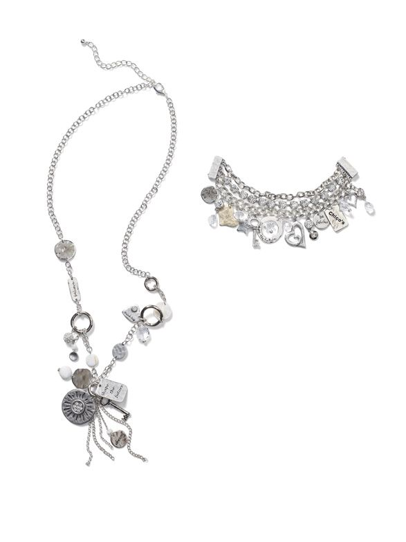 30th Anniversary Collection: Joyeux Charm Necklace and Bracelet #chicos #WildAbout30