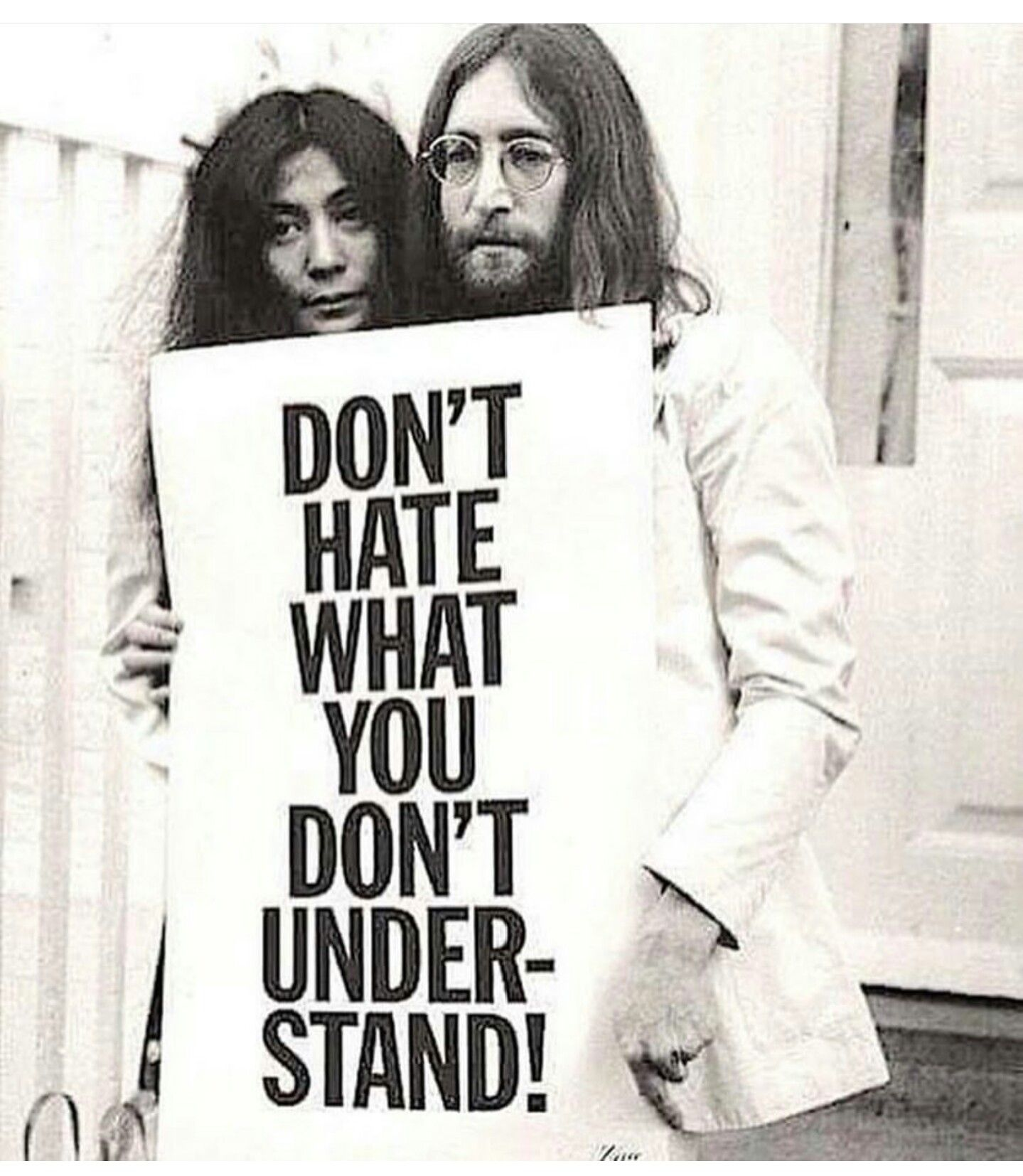 Dont Hate What You Dont Understand Black White Pinterest