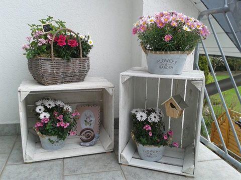 Schon 4x Weiße Dekorative Apfelkisten Obstkisten Holzkis Pinterest. Obstkisten  Weinkisten Im Garten Gartenideen Deko ...