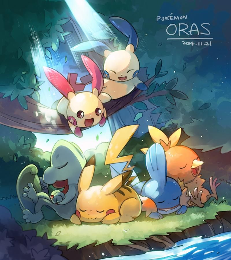 Plusle and Minun Drop in on the Starters