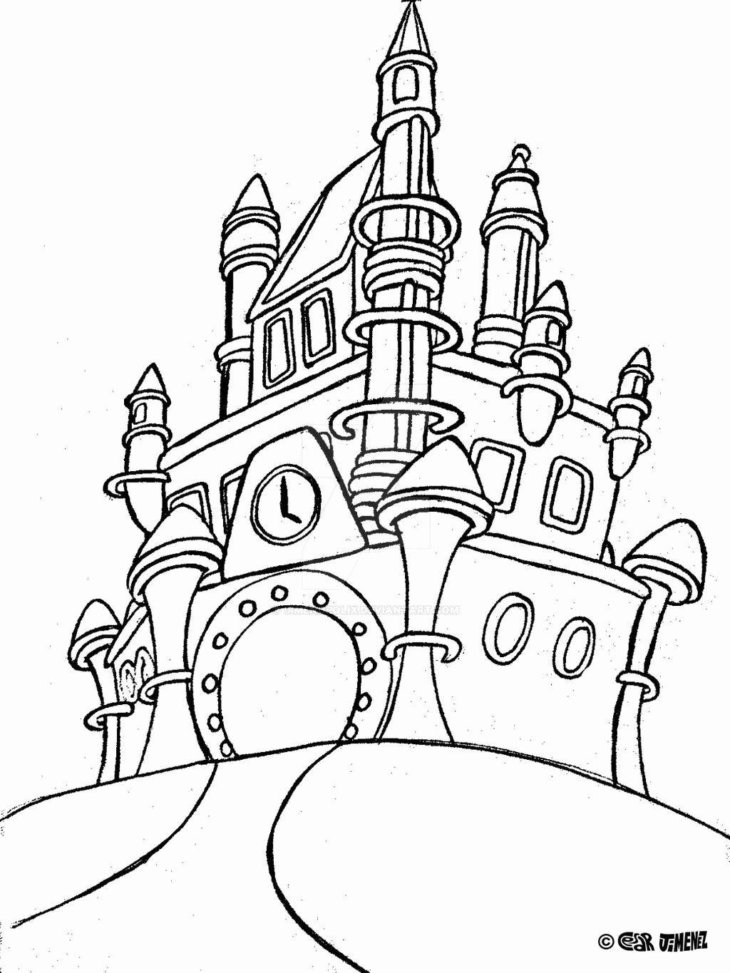 Disney World Coloring Page Inspirational Jimenopolix Disney World Castle By Jime Disney Coloring Pages Cinderella Coloring Pages Disney Princess Coloring Pages