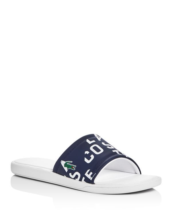 63fa27e0d Lacoste Logo Printed Slide Sandals