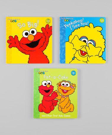Another great find on #zulily! Sesame Beginnings Game Board Book Set #zulilyfinds