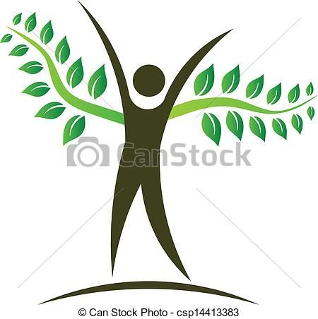 Vector - People tree logo design element - stock illustration ...