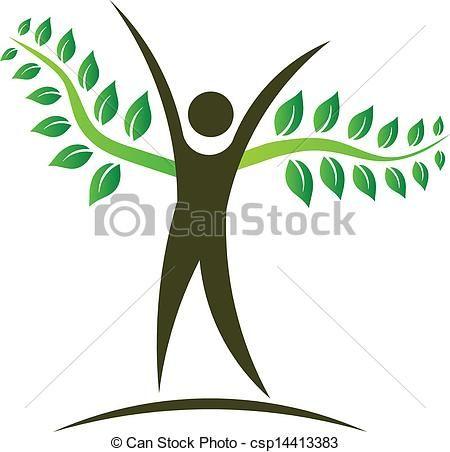 Vector - People tree logo design element - stock illustration ...