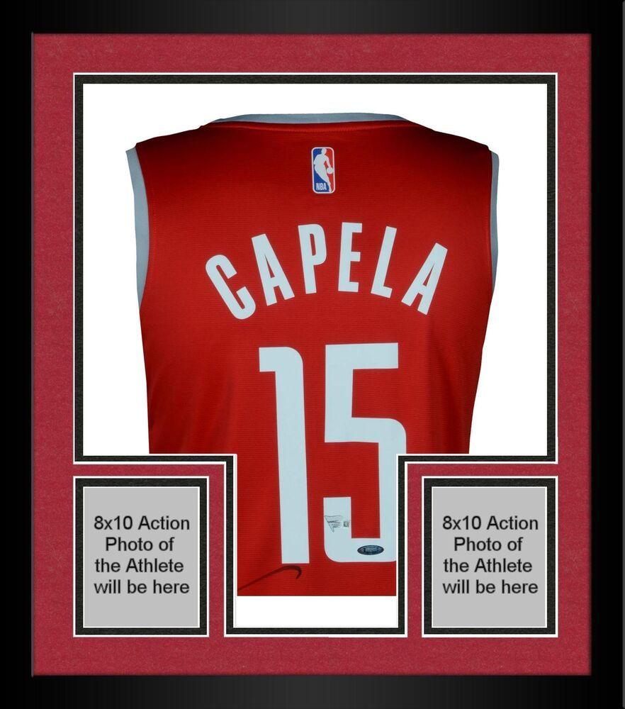 2dff8733f Framed Clint Capela Houston Rockets Autographed Fanatics Red Fastbreak  Jersey  sportsmemorabilia  autograph  basketballjersey