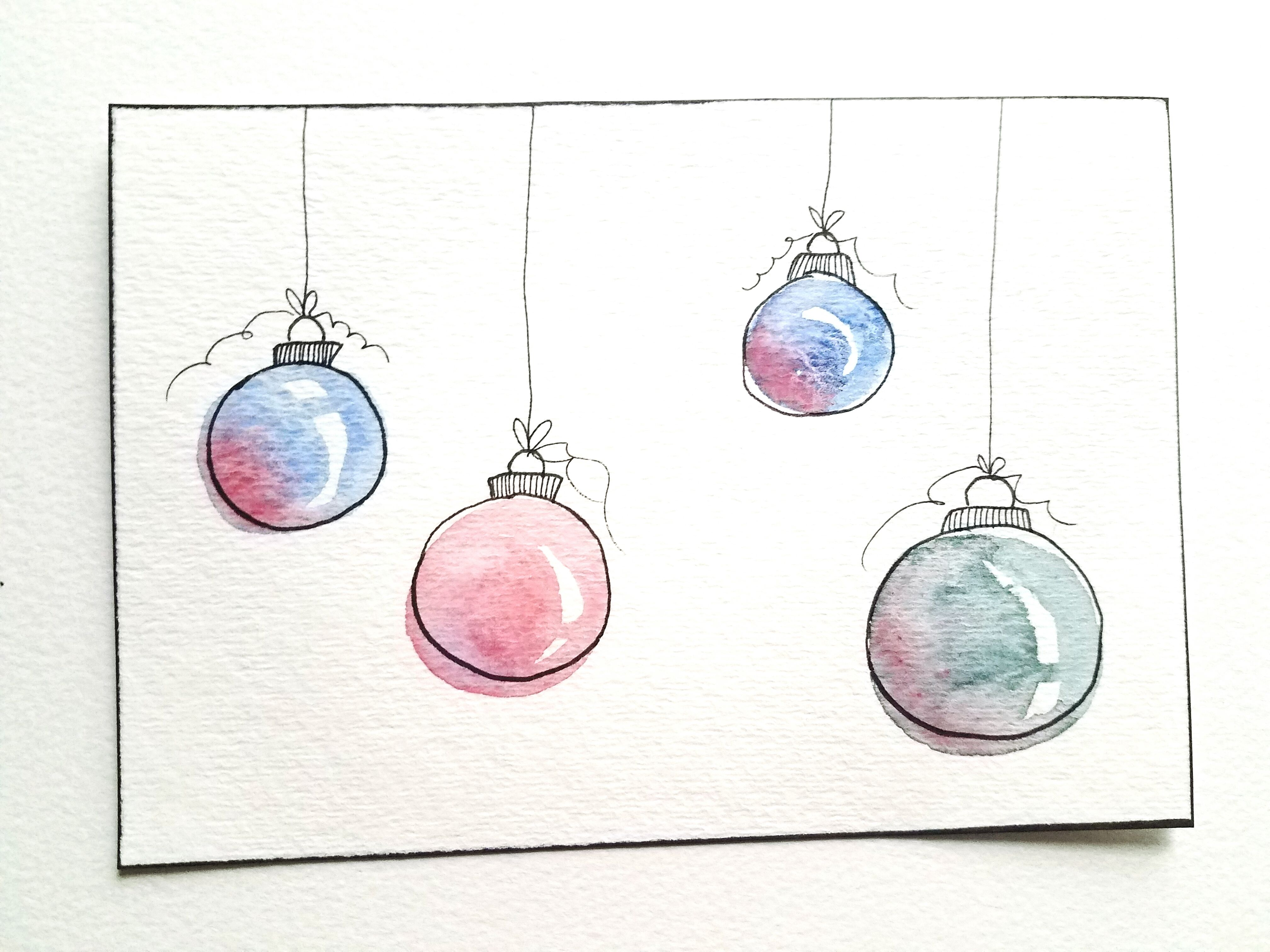 4 Easy Diy Watercolor Christmas Cards Watercolor Christmas Cards