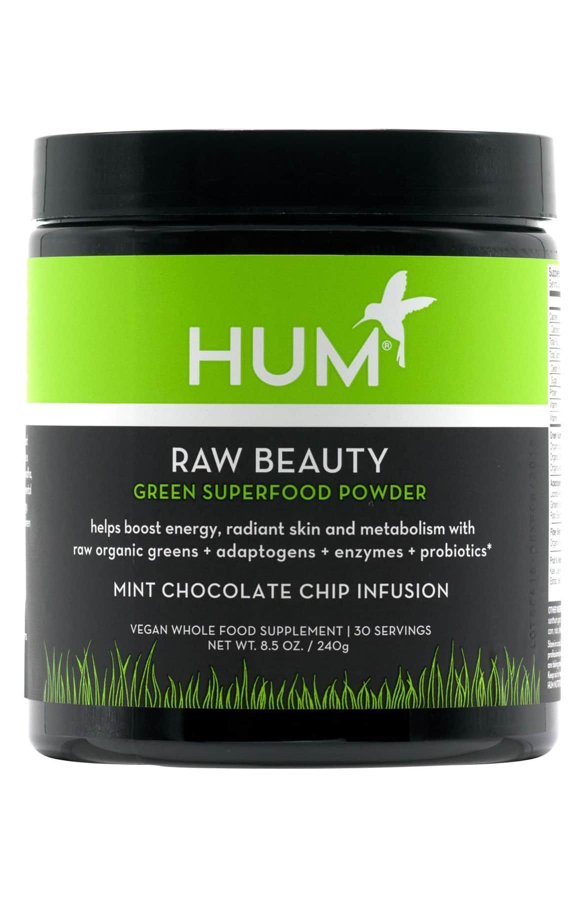 Hum Nutrition Raw Beauty Skin Energy Green Superfood Powder Green Superfood Powder
