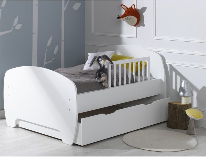 Lit enfant blanc - Barriere de lit conforama ...