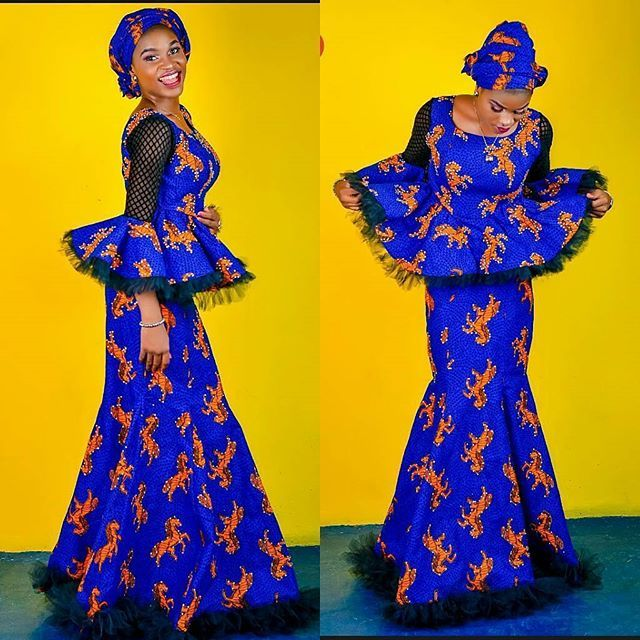 4e0b7be5575a2a Awesome Peplum Ankara Skirt and Blouse Designs for Beautiful  Ladies...Awesome Peplum Ankara Skirt and Blouse Designs for Beautiful Ladies