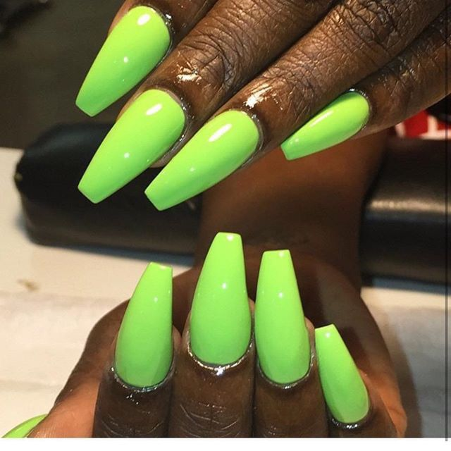 Green coffin nails | !NAILSSSSS! | Pinterest