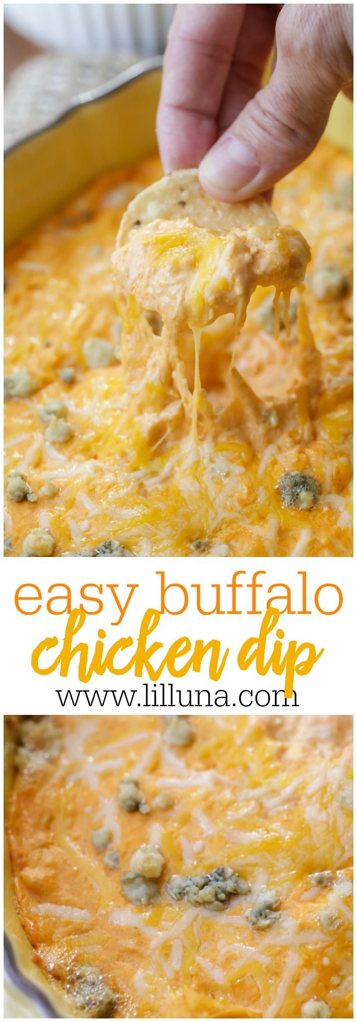 Best Buffalo Chicken Dip Recipe (+VIDEO) | Lil' Luna