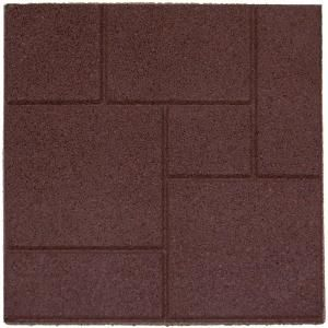 Just Saw These In Home Depot Over The Weekend   Recycled Rubber Outdoor  Flooring Tiles. Good For Patio And Kids Playground!