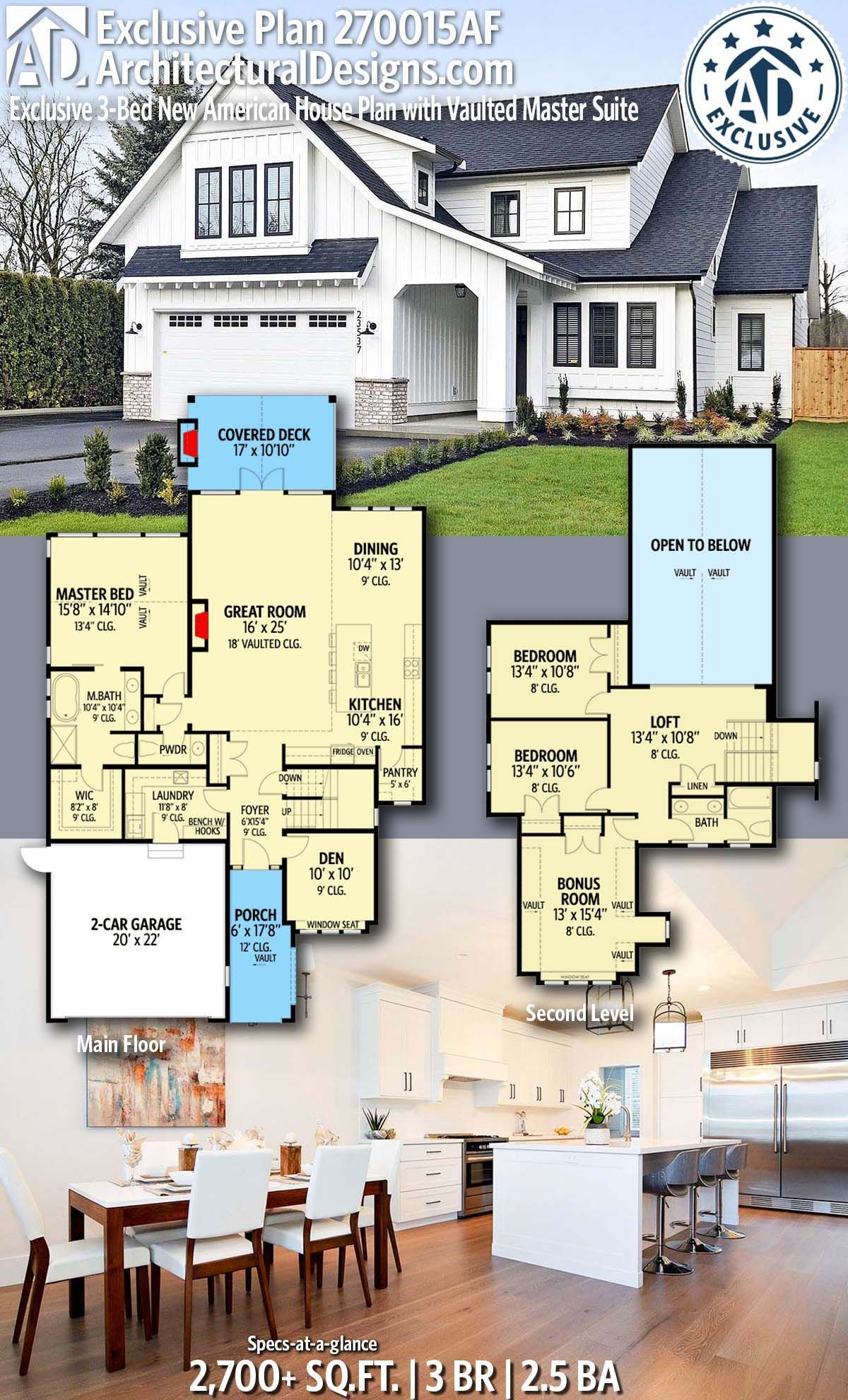 Plan 73404hs Two Story New American Home Plan With Indoor Sport Court House Blueprints House Plans Building A House