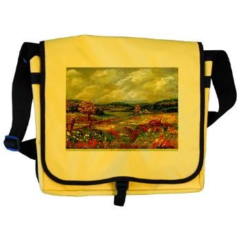 Messenger Bag  'Katy's Pasture',by Ave Hurley of www.ArtRave.com/Ave Only  $24.99  Fully Customizable - change colors, add words etc.