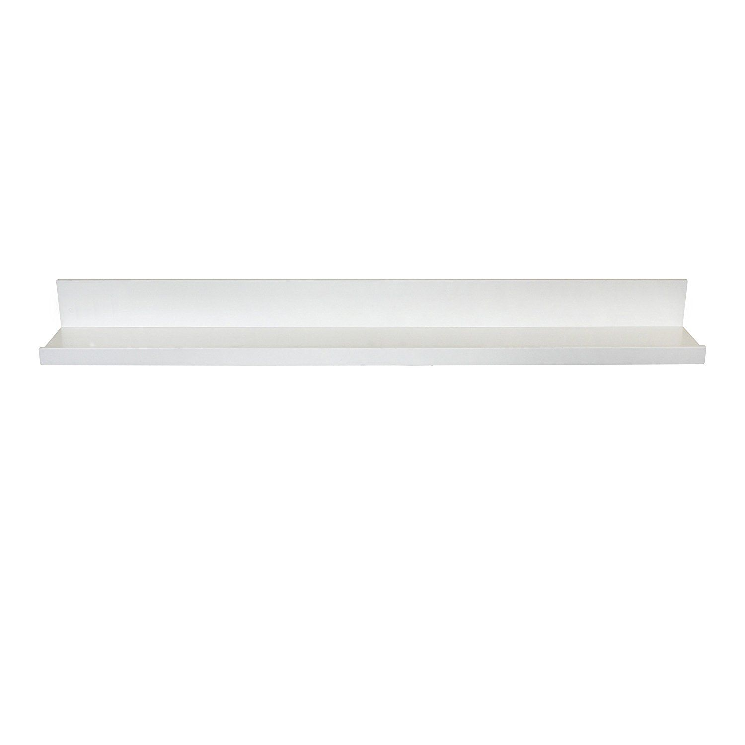Amazon Com Inplace Shelving 9084678 Picture Ledge Floating Shelf 36 Inch Long White Home Kitchen Picture Shelves Floating Wall Wall Mounted Shelves