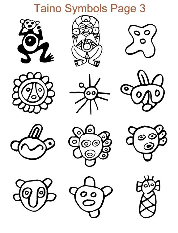 Puerto Rico Taino Tattoos Stencils