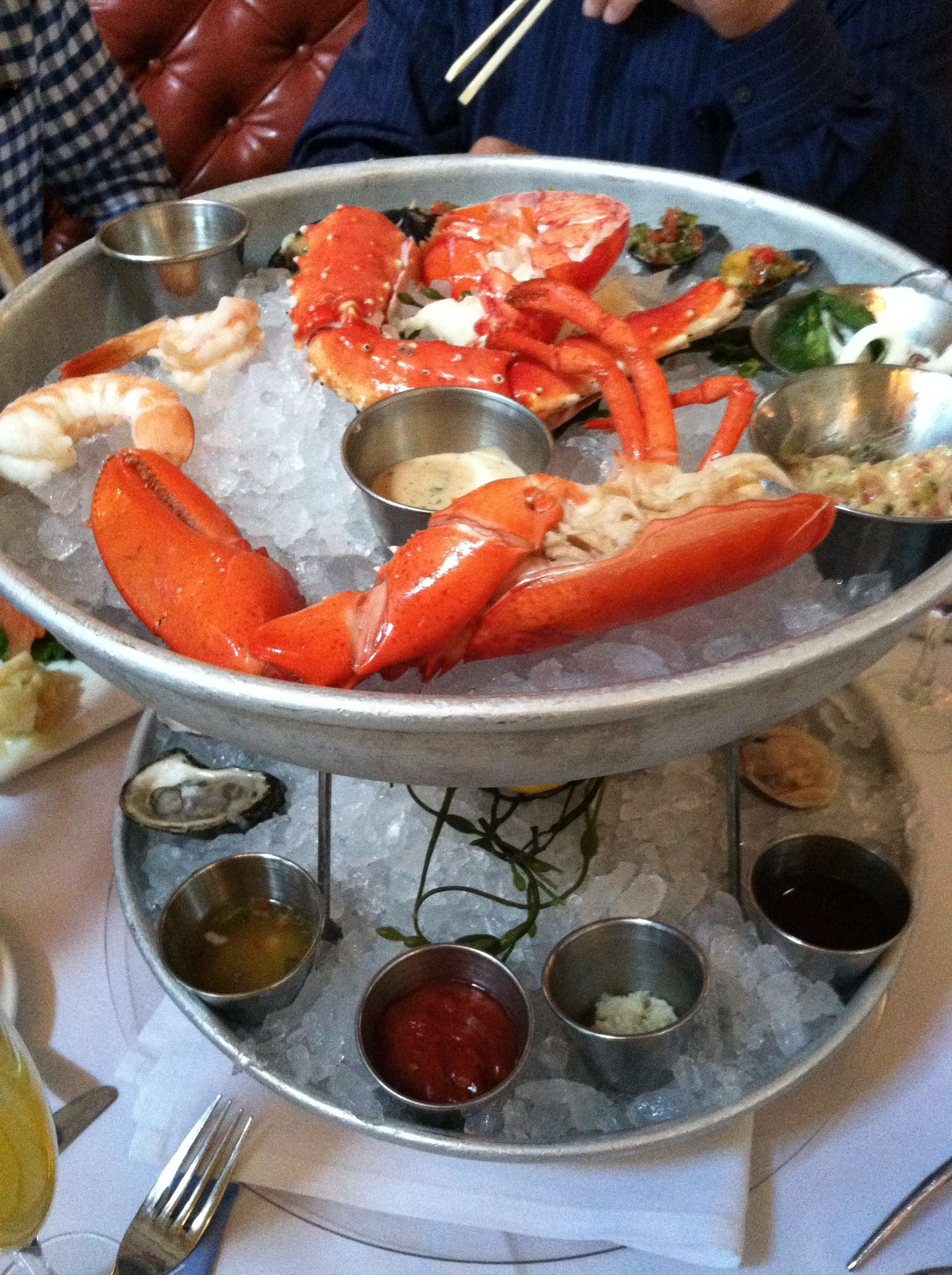 Seafood Tower, Blue Water Grill NYC