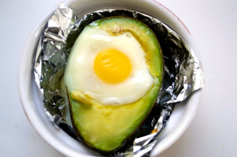 Photo of Baked Egg in An Avocado