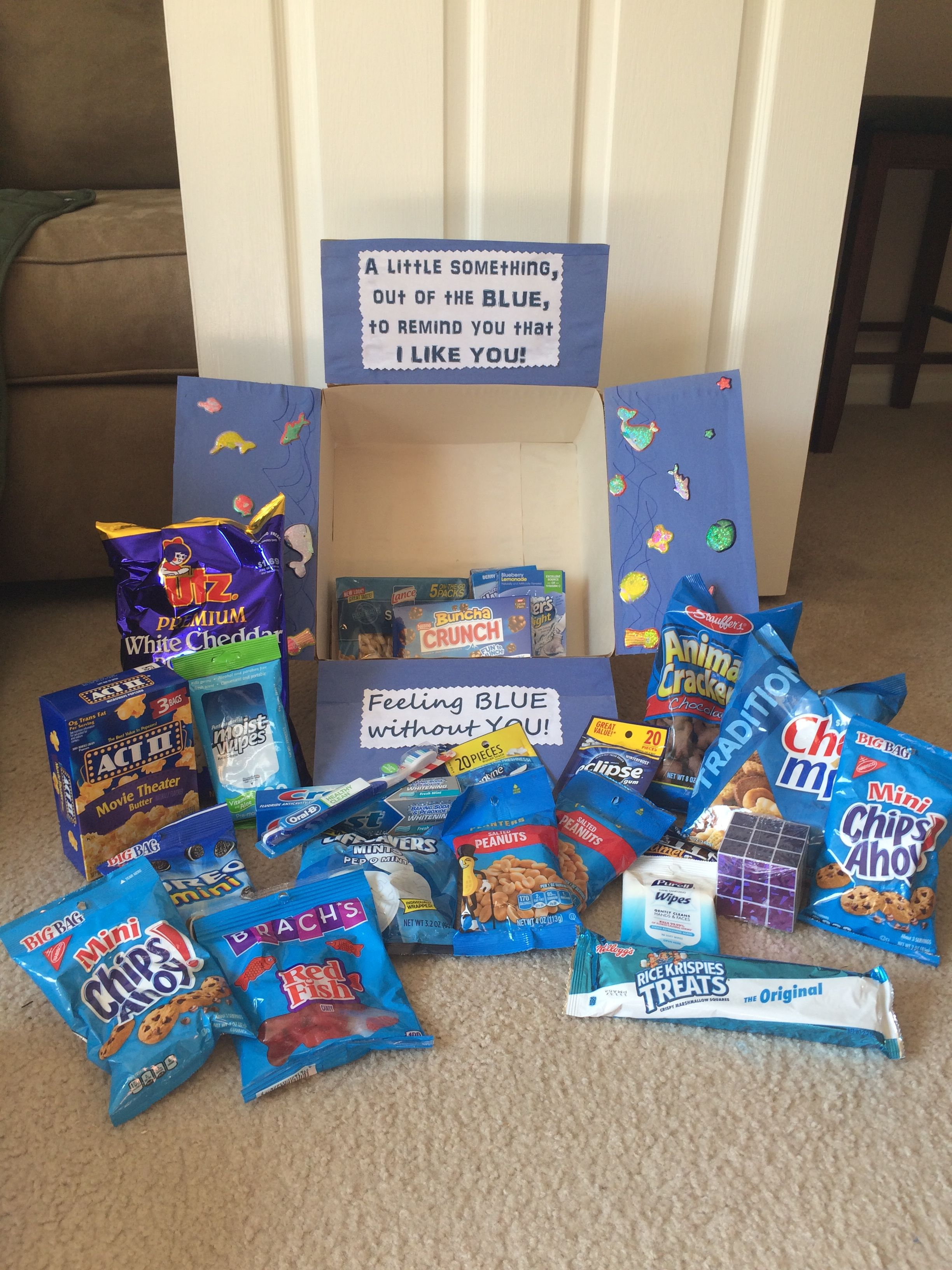 Feeling Blue Care Package With Images Friend Birthday Gifts