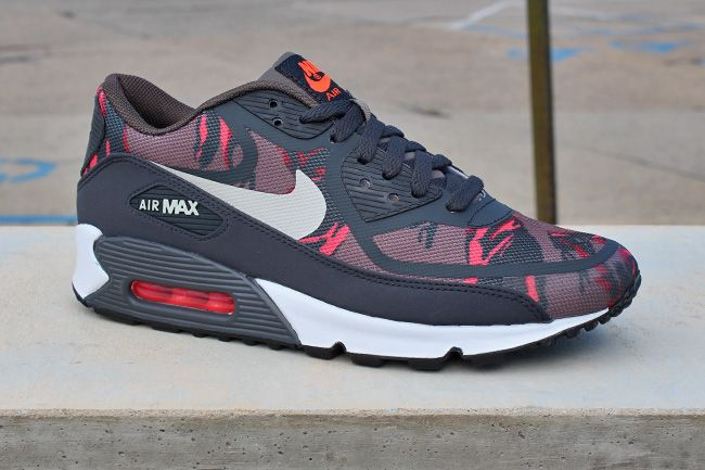 Nike Air Max 90 Premium Tape Red Camo Trainers