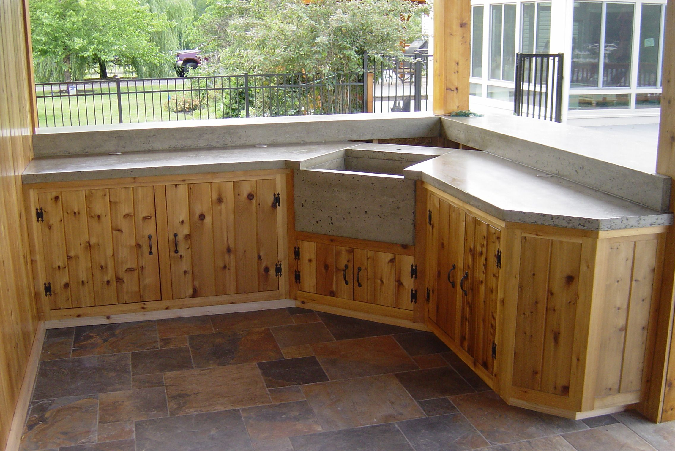 Best Custom Cedar Cabinets With Images Outdoor Kitchen 400 x 300