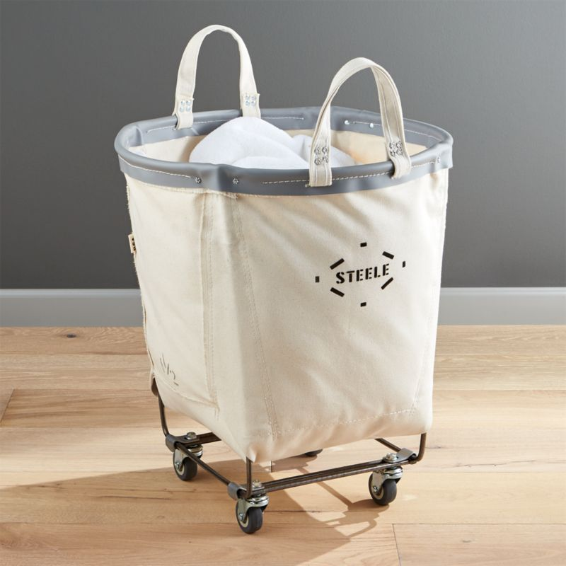 Shop Steele Round Canvas Basket Transform The Laundry Room Into A
