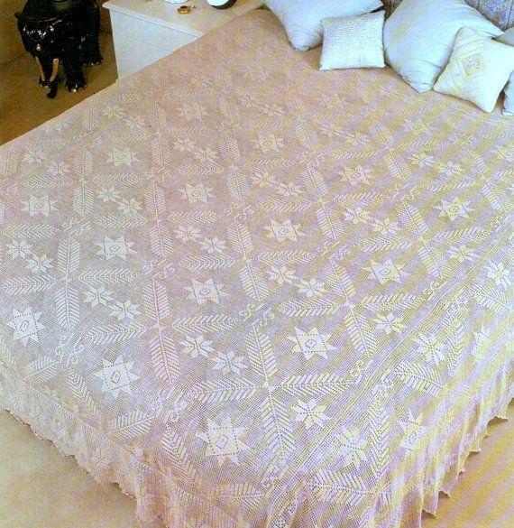 Pdf crochet bedspread pattern bedcover crochet blanket for Pizzi uncinetto per tovaglie