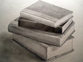 stack of books pencil drawing - Google Search | Pencil ...