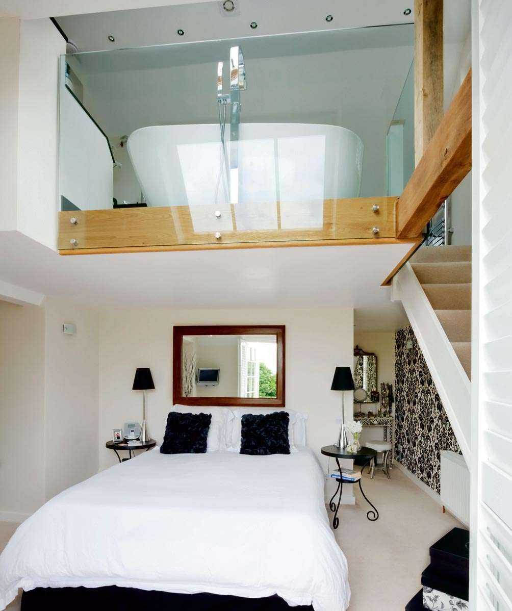 Adding a mezzanine ensuite or dressing room.   Interiors ...