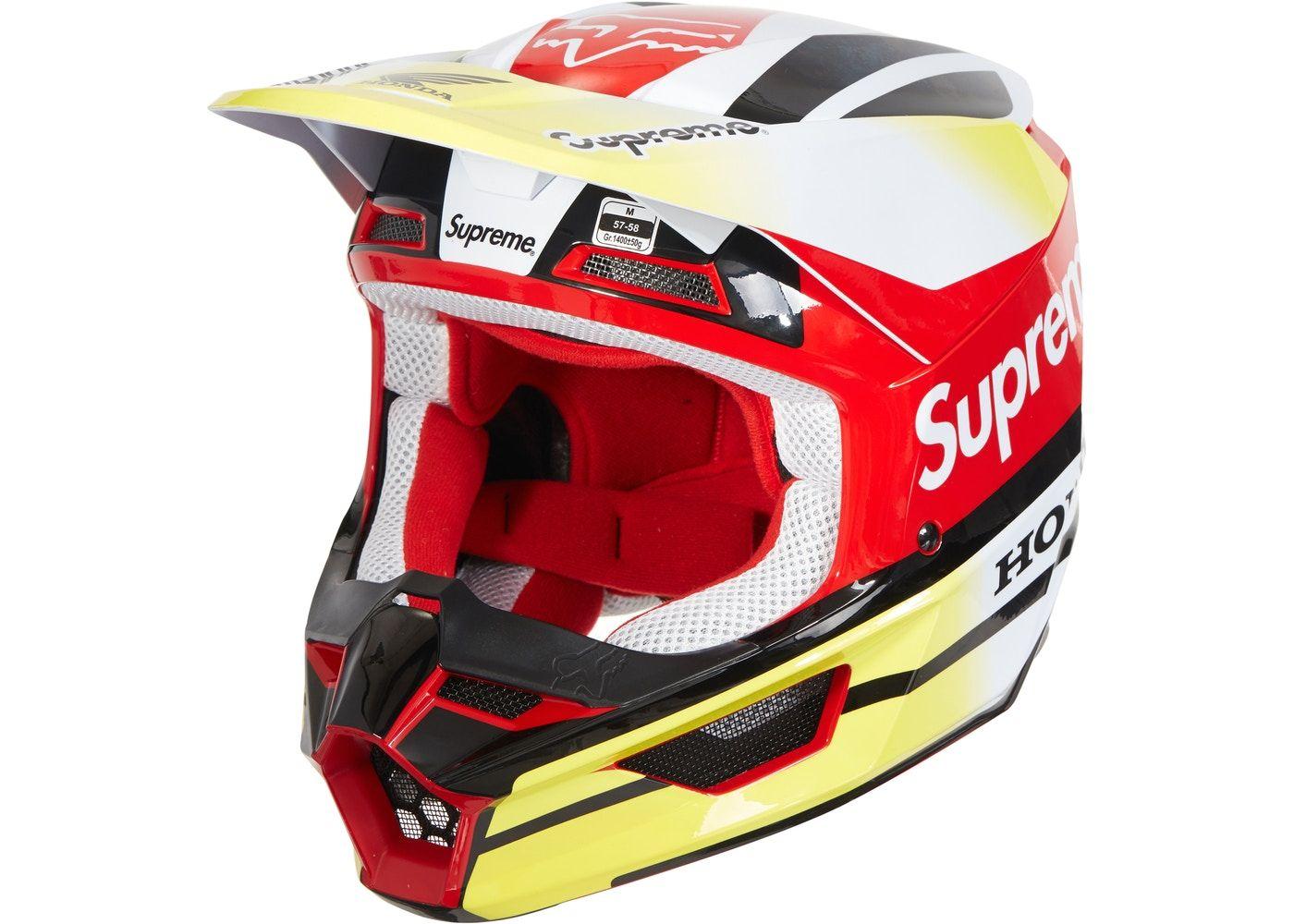 Supreme Honda Fox Racing V1 Helmet Red Fox racing