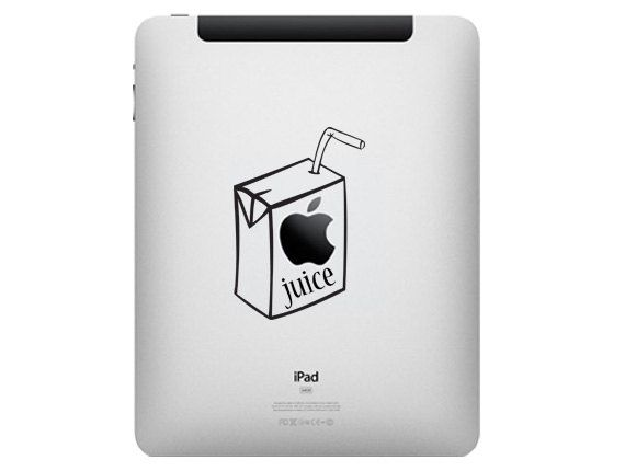 Apple Juice For iPad Wifi 3G  Vinyl Decal dp12. $7.99, via Etsy.