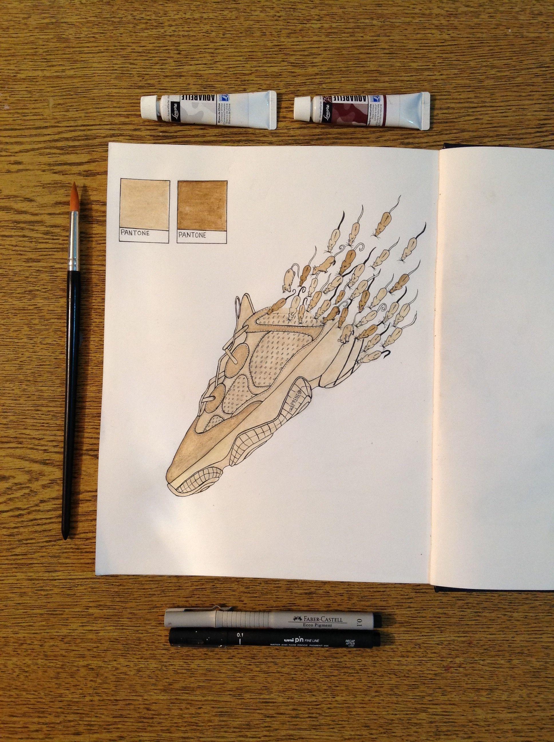 Adidas Yeezy Desert Rat 500 #drawing