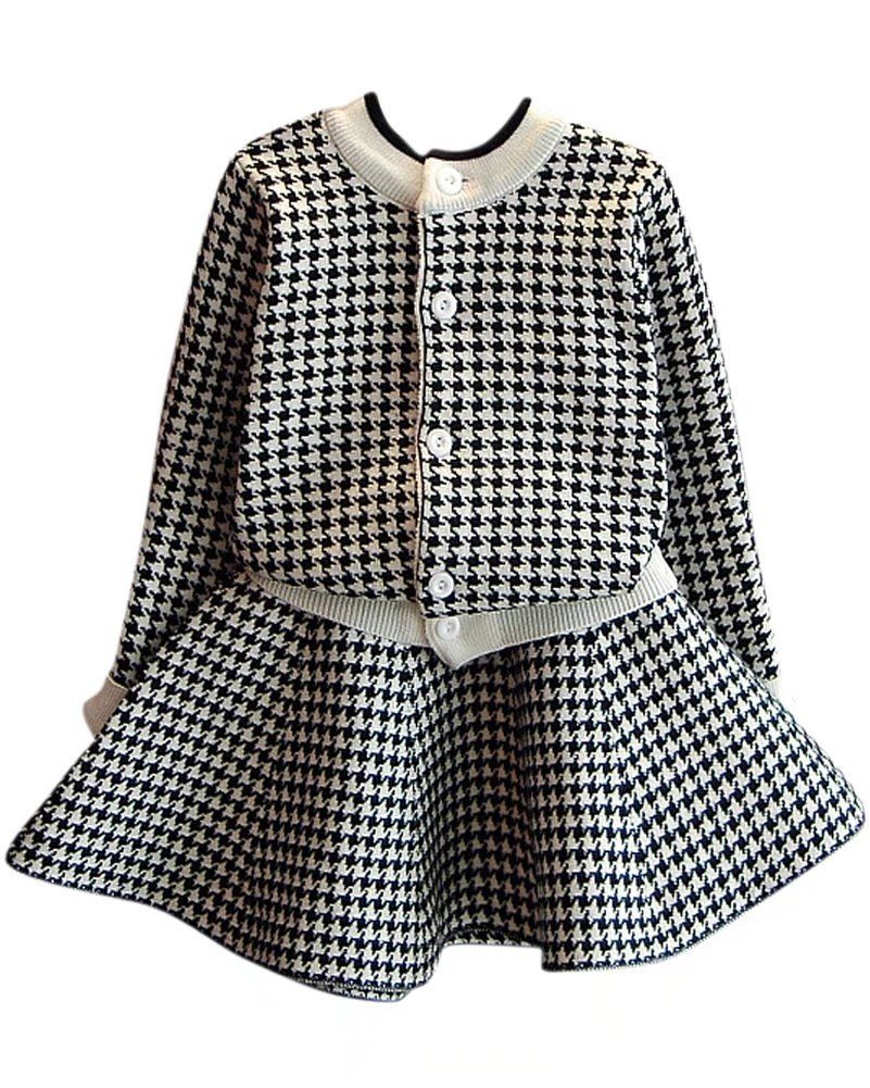 CM C/&M WODRO Toddler Girls Clothes Winter Warm Long Sleeve Tops+Long Pants Set