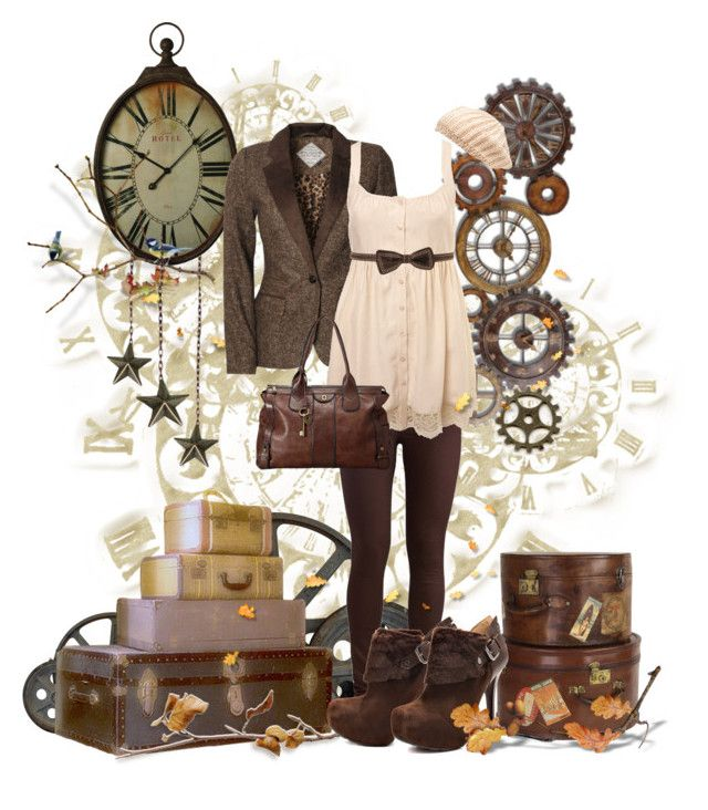 """""""Modern Steampunk #1"""" by rorie-burke ❤ liked on Polyvore featuring Blonde   Blonde, Pieces, Miss Selfridge, Forever New, GUESS, Forever 21 and mode"""