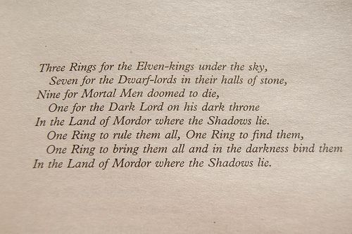 One Ring To Rule Them All Quote Page Number One Ring To Rule Them All The Hobbit Lord Of The Rings Words