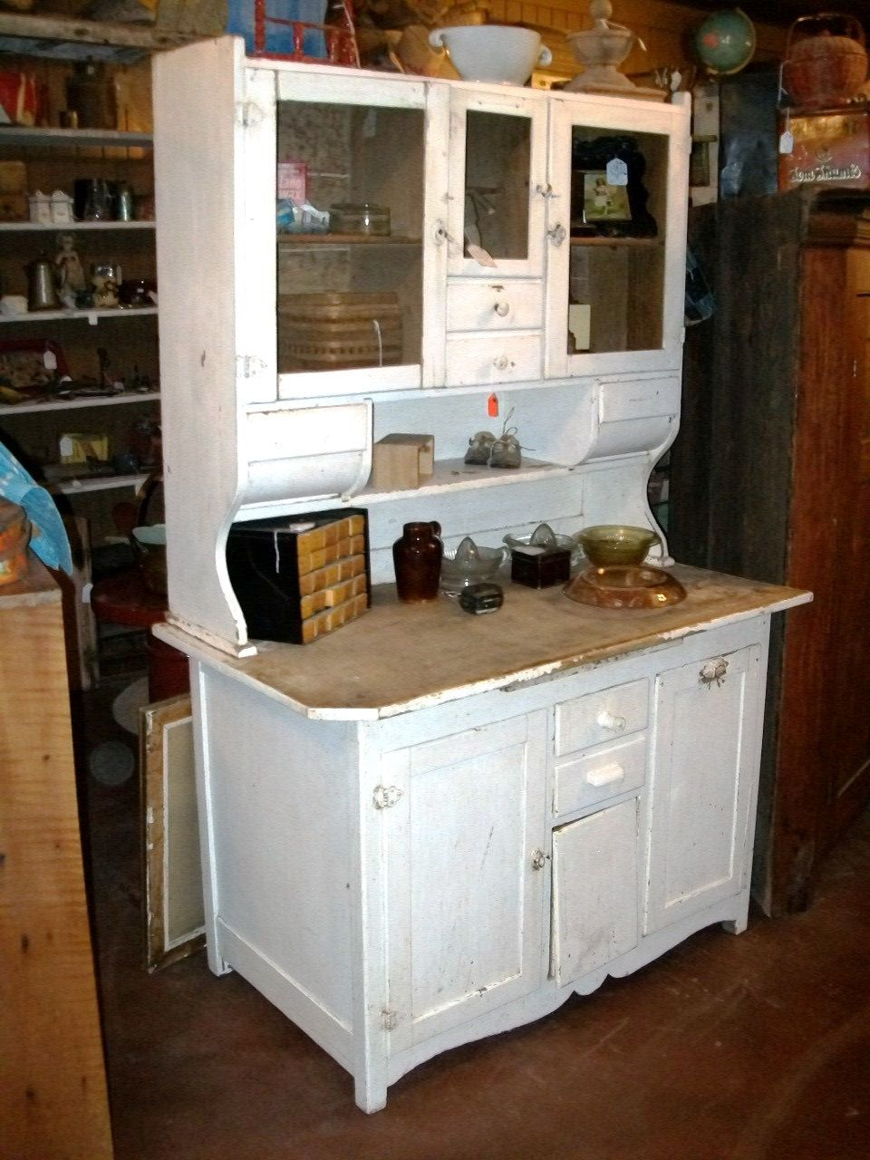 Oak Bakers Kitchen Cupboard 2 Piece Wooden Cabinet For Flour Sugar And Spices From Late 1800 S 589 Kitchen Cupboards Kitchen Cabinet Styles Bakers Kitchen