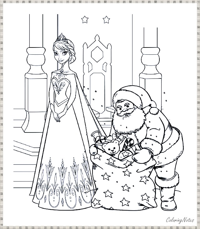 Frozen Christmas Coloring Pages For Kids Frozen Christmas Frozen Coloring Pages Christmas Coloring Pages