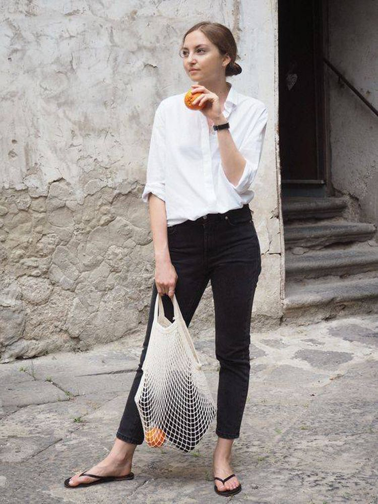 Unique Scandinavian Fashion Inspirations For Women White Outfit Casual Minimalist Outfit Summer Minimal Fashion