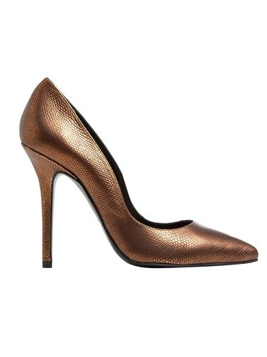 Berta Stiletto In Bronze Engraved Leather - MAS34 0  GIRISSIMA.COM