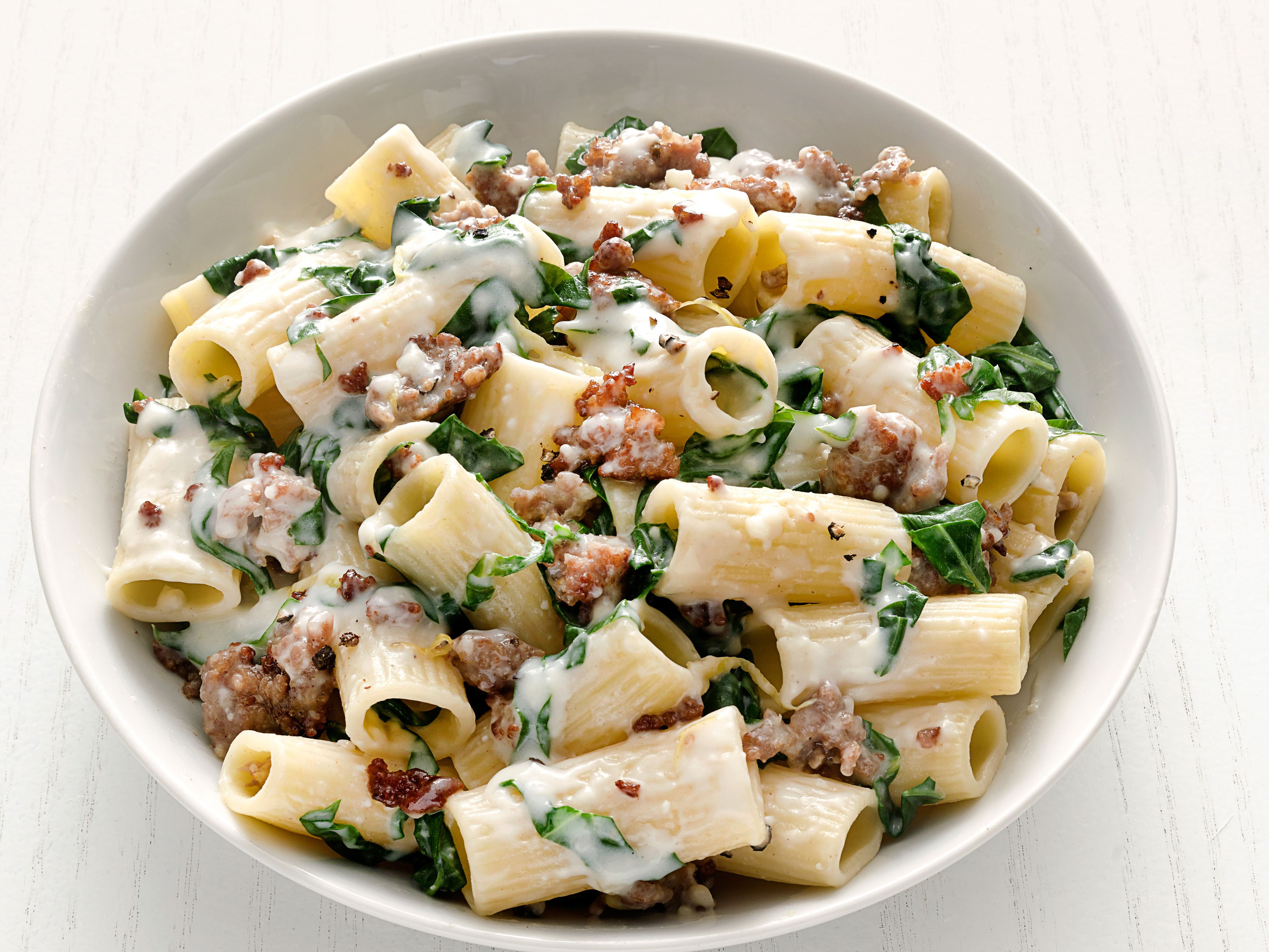 Rigatoni with swiss chard and sausage ricetta bella e cucina rigatoni with swiss chard and sausage rigatoni with swiss chard and sausage recipe food network forumfinder Gallery