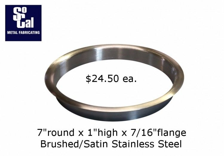 7 Dia X 1 Deep Stainless Steel Trash Grommet Socal Metal Fab Stainless Steel Countertops Grommets Stainless Steel