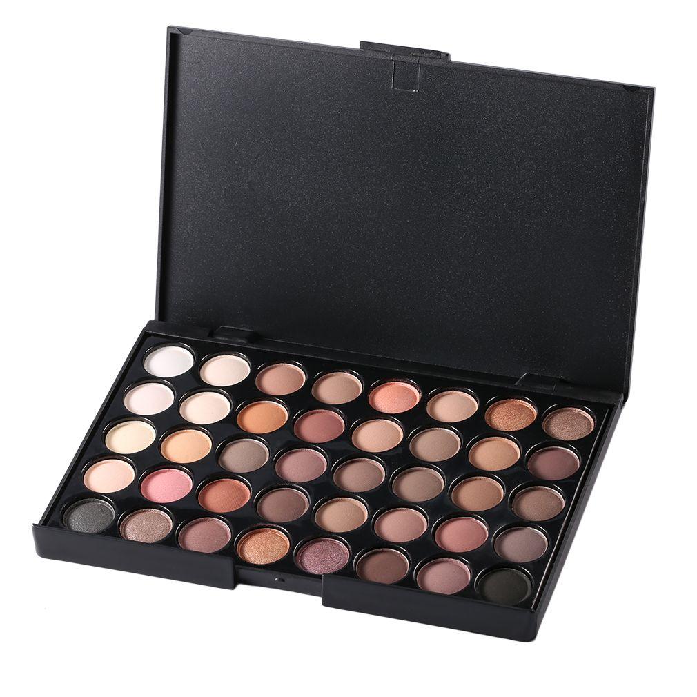 40 Colores de Maquillaje Profesional Paleta de Sombras de Ojos Luminoso Shimmer Mate Paleta de Sombra de Ojos Cosmético Compone Herramientas