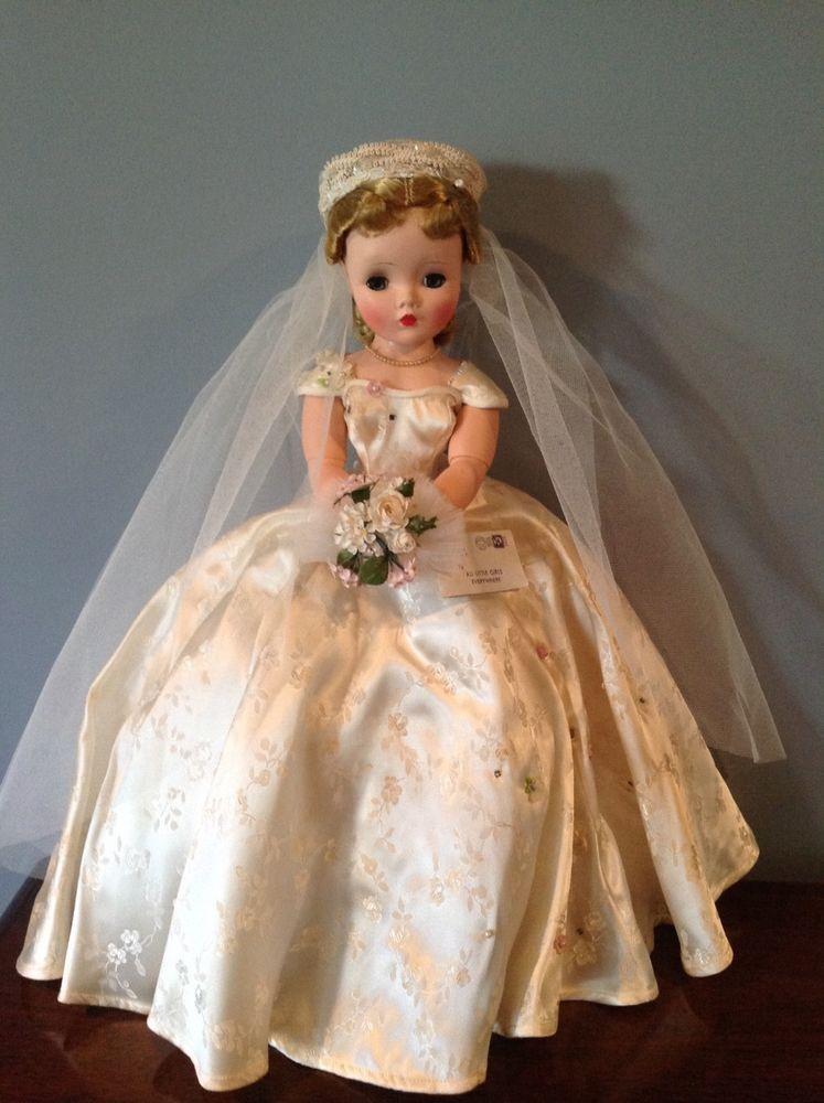 Vintage 1955 madame alexander cissy bride doll #2101 #bridedolls